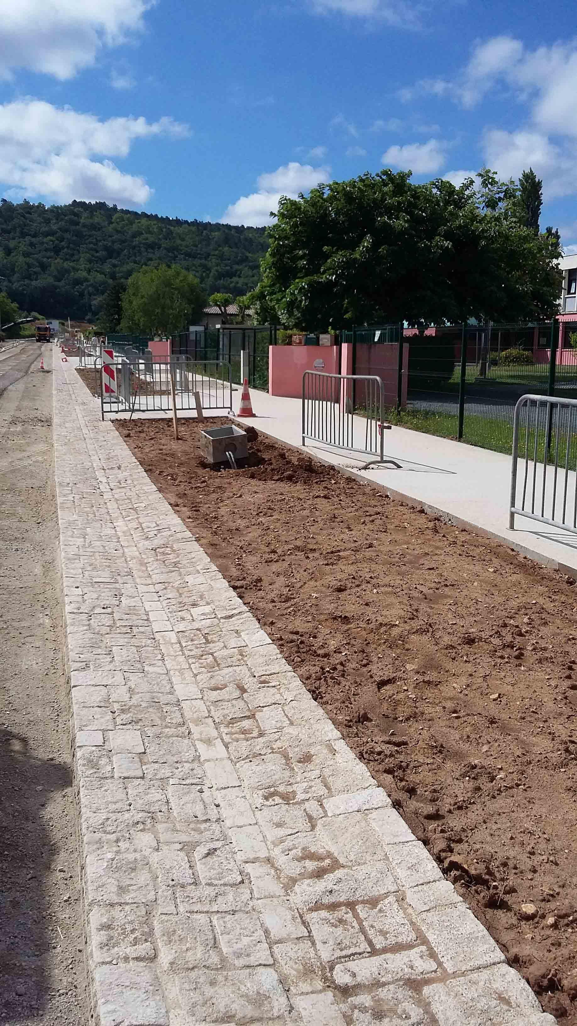 Aménagement urbain voiries Montignac 2