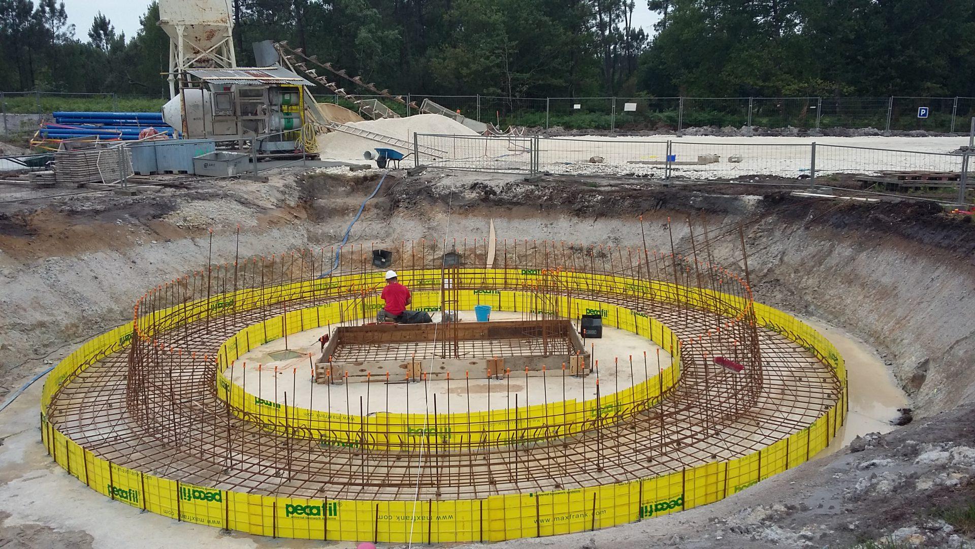 Fondations château d'eau